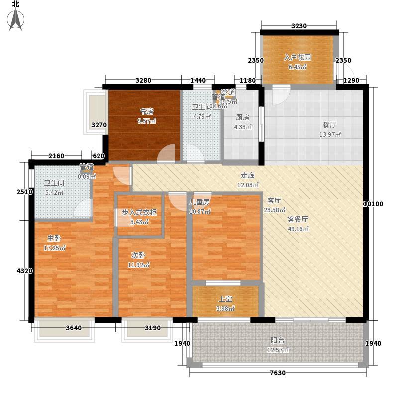 恒创恒福花园157.93㎡恒创恒福花园户型图3期3幢标准层02户型4室2厅2卫1厨户型4室2厅2卫1厨
