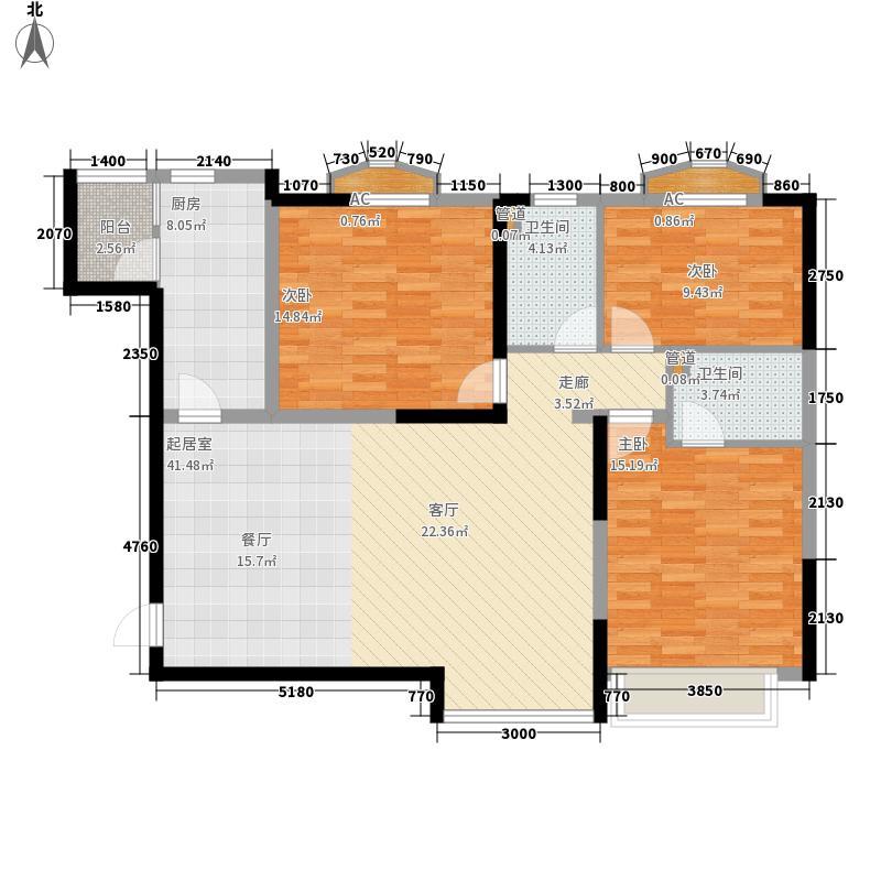沈阳恒大城128.00㎡沈阳恒大城户型图B户型3室2厅1卫户型3室2厅1卫