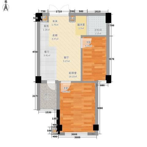 阳光城新界2室0厅1卫0厨47.00㎡户型图