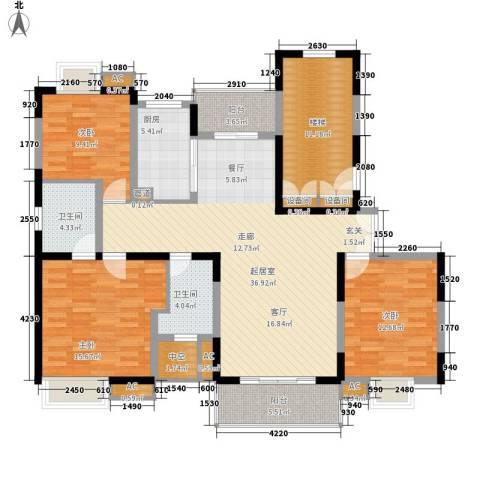 万源城乐斯生活会馆3室0厅2卫1厨131.00㎡户型图