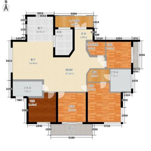 龙泽半岛逸湾4室1厅2卫1厨185.00㎡户型图
