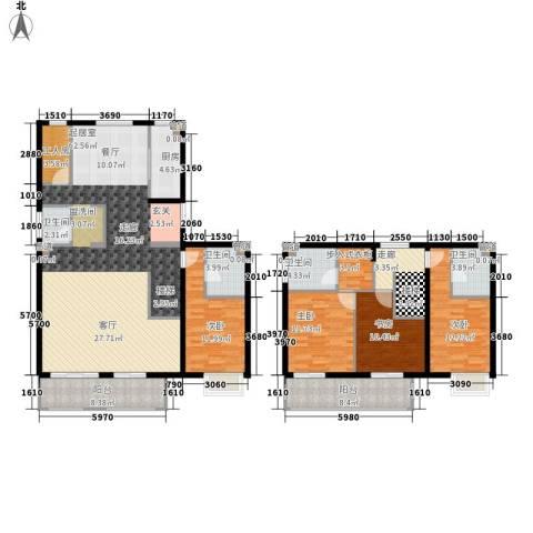 京投银泰·琨御府4室0厅4卫1厨238.00㎡户型图