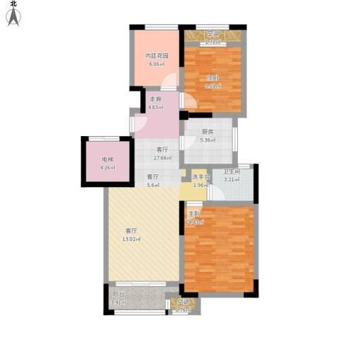 新城春天里2室1厅1卫1厨112.00㎡户型图