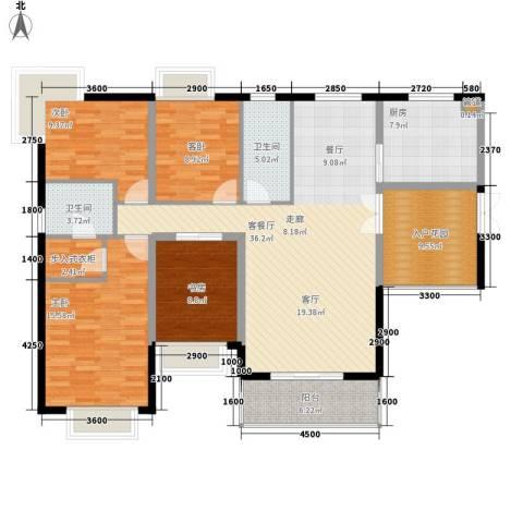 星海花园4室1厅2卫1厨161.00㎡户型图