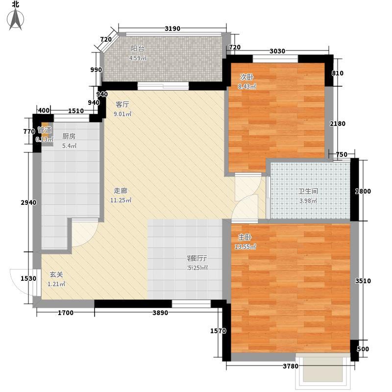丽华苑M户型2室2厅1卫1厨