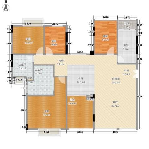 愉景南苑4室0厅2卫1厨208.00㎡户型图