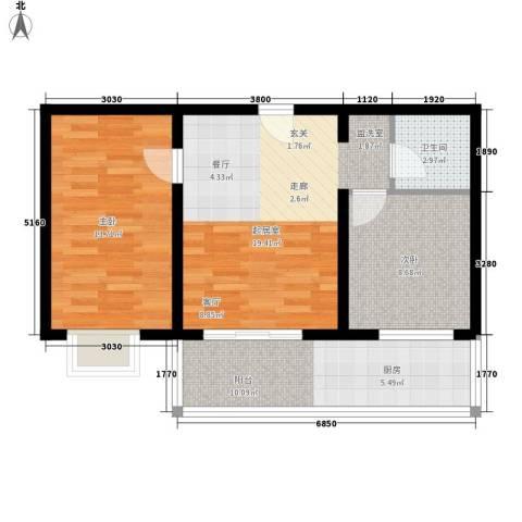 钢府逸居2室0厅1卫0厨69.00㎡户型图