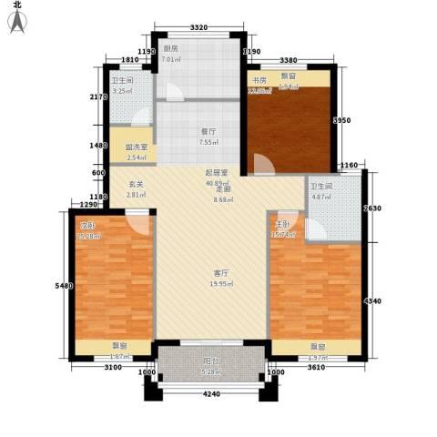 丁香公馆3室0厅2卫1厨116.00㎡户型图
