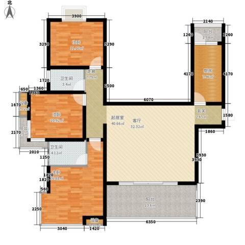 曲江诸子阶3室0厅2卫1厨139.00㎡户型图