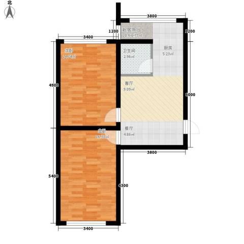 大将作2室0厅1卫0厨74.00㎡户型图