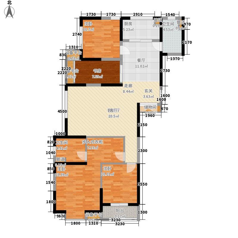 万科东郡136.00㎡万科东郡户型图君城高层B1-013室2厅2卫户型3室2厅2卫