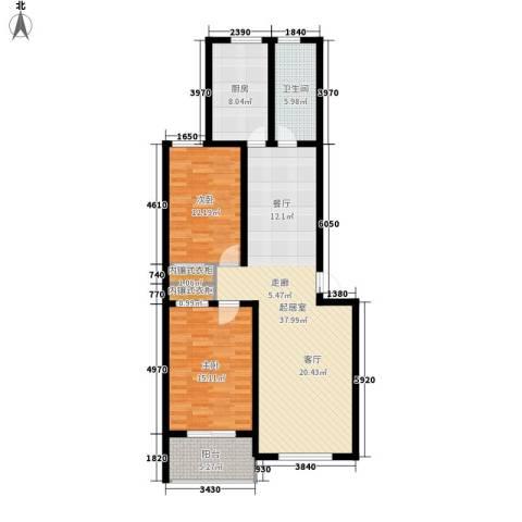 豪景南苑2室0厅1卫1厨99.00㎡户型图