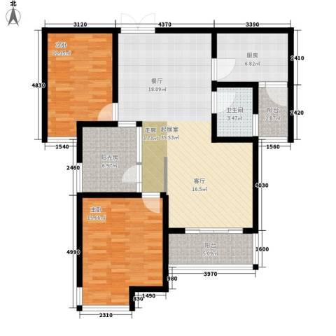曲江诸子阶2室0厅1卫1厨102.00㎡户型图