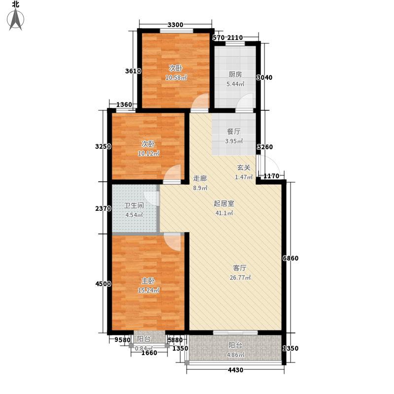 翰林雅筑121.79㎡10号楼标准层3面积12179m户型