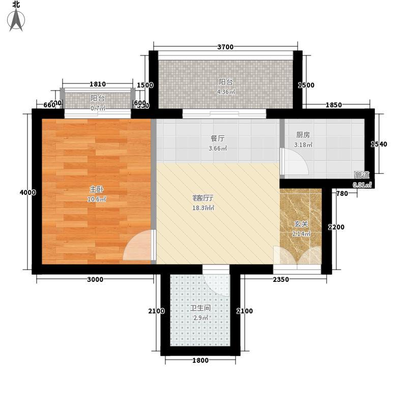 南山花园户型图福星阁A户型 1室1厅1卫