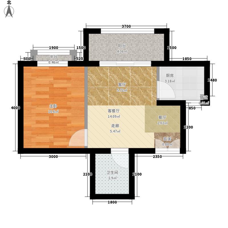 南山花园51.43㎡南山花园户型图福至阁A户型1室1厅1卫户型1室1厅1卫