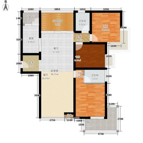 曲江诸子阶3室0厅2卫1厨131.00㎡户型图