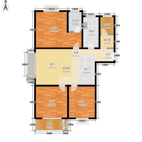 芙蓉名园3室0厅2卫1厨132.00㎡户型图