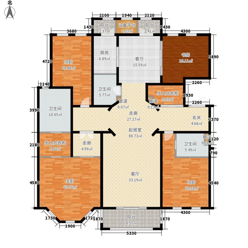 天正桃源248.00㎡一期2-6号楼标准面积24800m户型