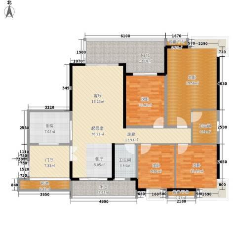 光大花园榕岸4室0厅2卫1厨147.00㎡户型图