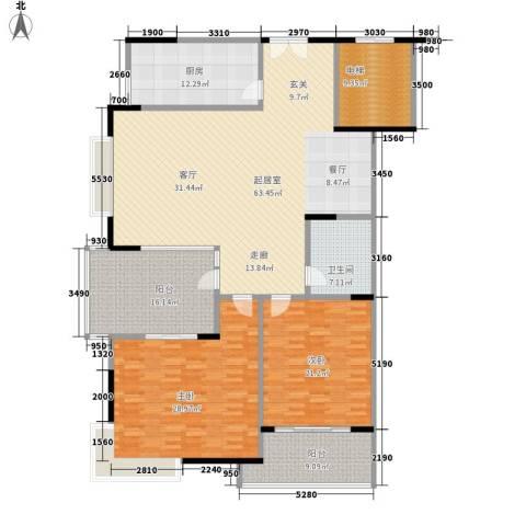 奥林匹克花园枫叶苑2室0厅1卫1厨183.00㎡户型图