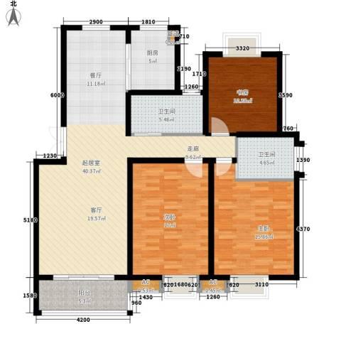 丽阳景苑二期3室0厅2卫1厨120.23㎡户型图