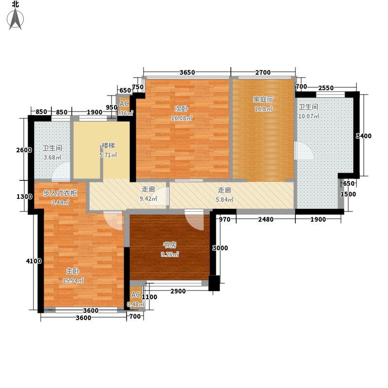 建发鹭洲国际二期155.00㎡二期6、7号楼C户型5室2厅3卫1厨