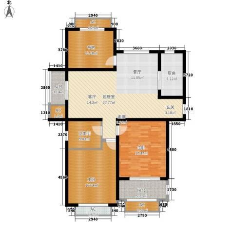 景城名轩3室0厅1卫1厨123.00㎡户型图