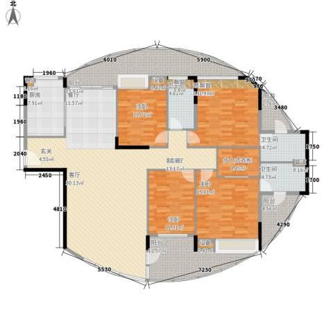 碧水云天4室1厅3卫1厨184.00㎡户型图