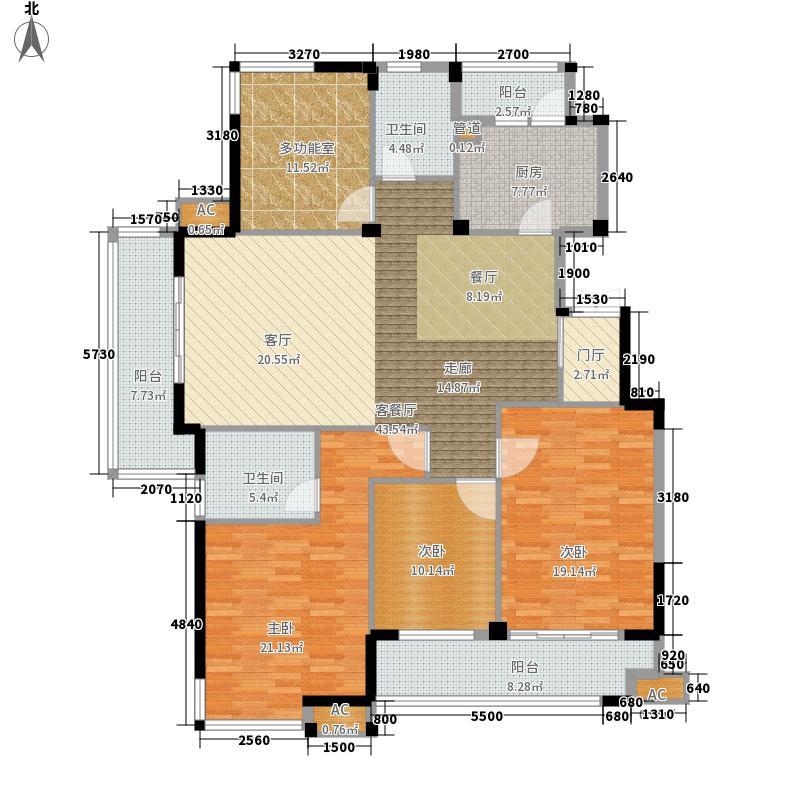 海棠湾花园161.35㎡海棠湾花园户型图高层GD4室2厅2卫1厨户型4室2厅2卫1厨