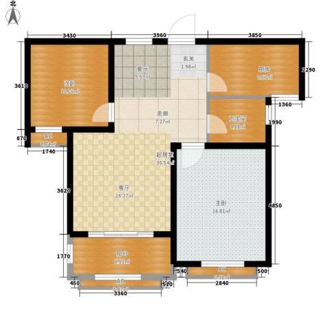 景城名轩2室0厅1卫1厨86.00㎡户型图