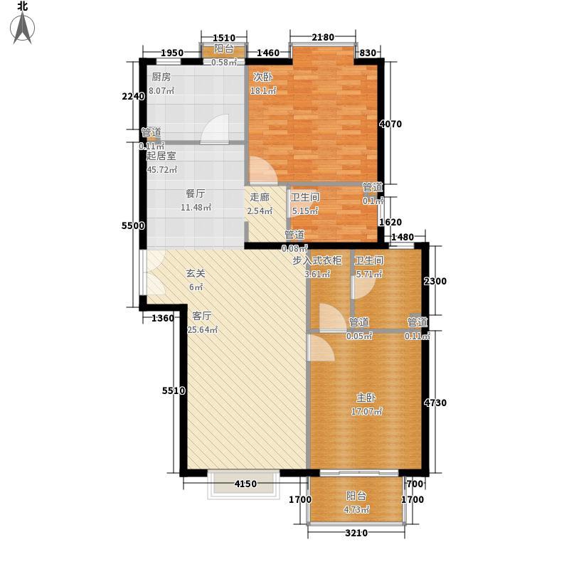 海逸半岛11.60㎡户型2室2厅2卫1厨