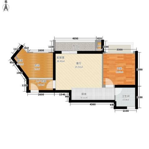 德盛・南岛康城1室0厅1卫0厨52.00㎡户型图