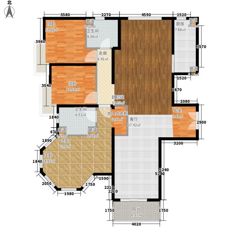 海逸半岛174.84㎡270全河景视界户型3室2厅2卫1厨