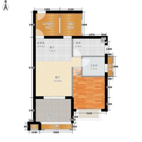 德盛・南岛康城1室0厅1卫1厨63.00㎡户型图