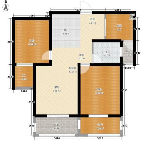 景城名轩2室0厅1卫1厨92.00㎡户型图