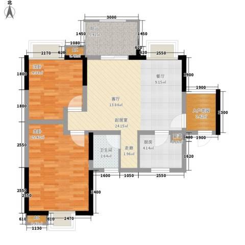 中大君悦金沙三期2室0厅1卫1厨99.00㎡户型图