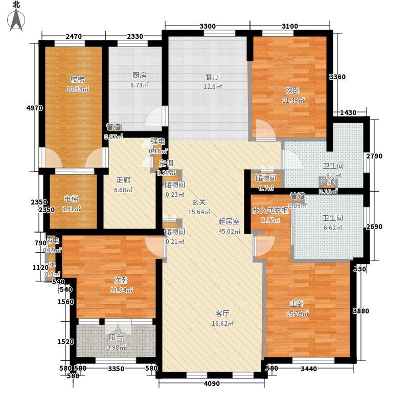 运河一品153.24㎡运河一品户型图3号楼301室、4号楼304室户型3室3厅2卫1厨户型3室3厅2卫1厨