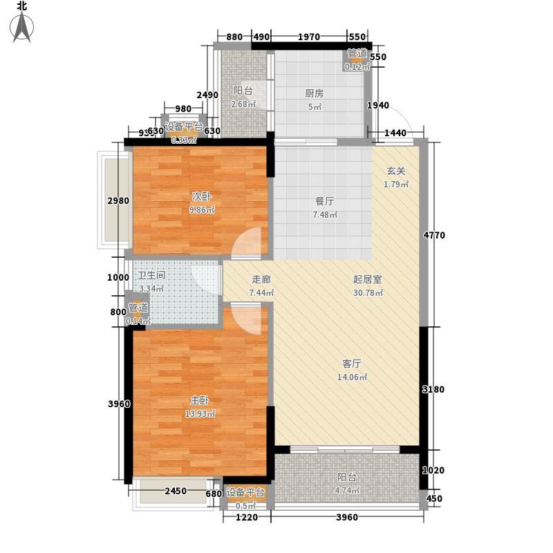 新世纪领居三期87.00㎡新世纪领居三期户型图3、4、5栋标准层D2户型2室2厅1卫1厨户型2室2厅1卫1厨