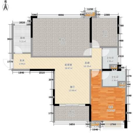 新世纪领居三期1室0厅2卫1厨106.00㎡户型图