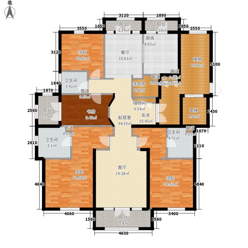 运河一品193.80㎡运河一品户型图5、9号楼的304室、6、10号楼的301室户型4室3厅3卫1厨户型4室3厅3卫1厨
