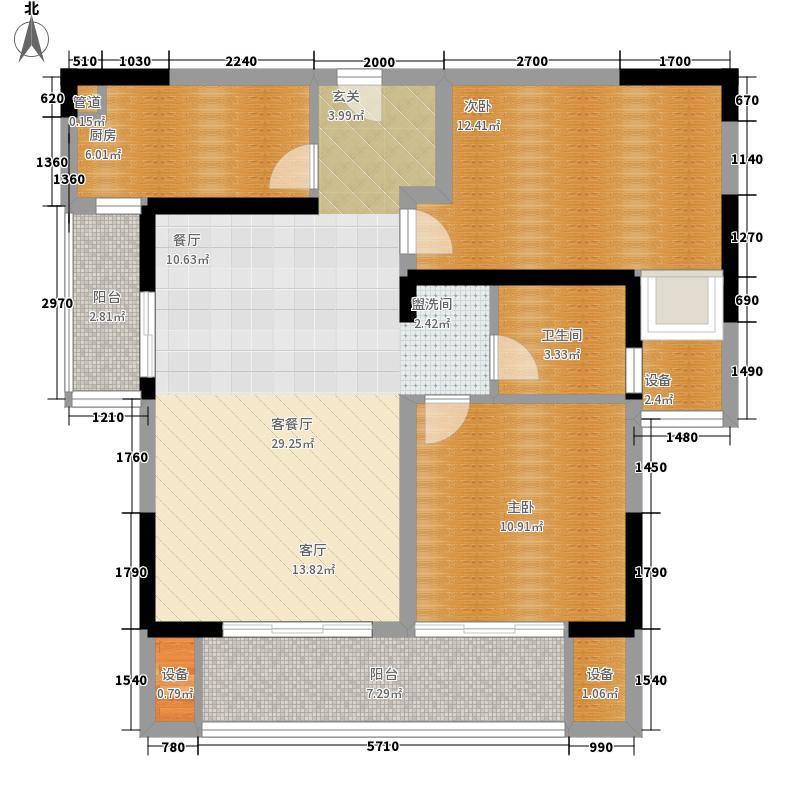 融绿熙园89.00㎡融绿熙园户型图梦想家B户型2室2厅1卫户型2室2厅1卫