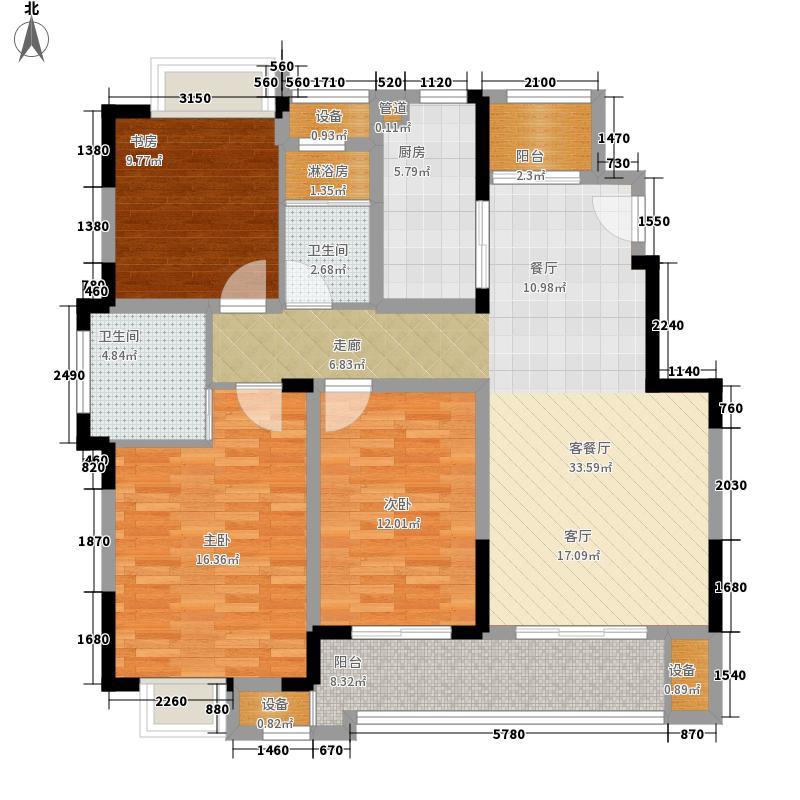 融绿熙园116.00㎡融绿熙园户型图碧玺116平户型3室2厅2卫户型3室2厅2卫