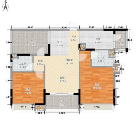 新世纪领居三期2室0厅2卫1厨133.00㎡户型图