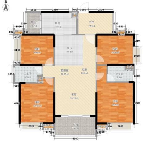 新世纪领居三期4室0厅2卫1厨158.00㎡户型图