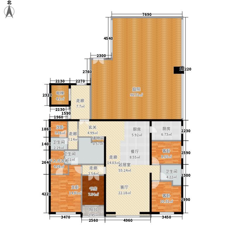 远洋公馆264.00㎡E反幻想巴比伦四室两厅两卫户型