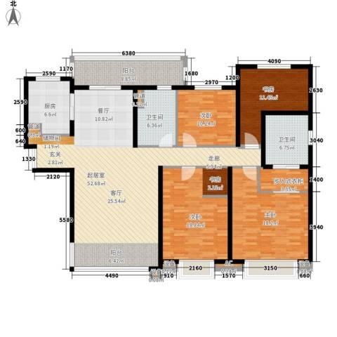 华润中海凯旋门4室0厅2卫1厨167.00㎡户型图