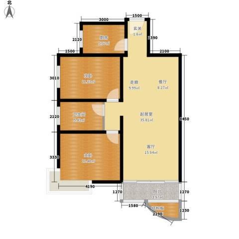 西城芳洲2室0厅1卫1厨92.00㎡户型图