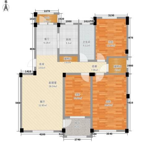 凤凰山花园3室0厅1卫1厨120.00㎡户型图