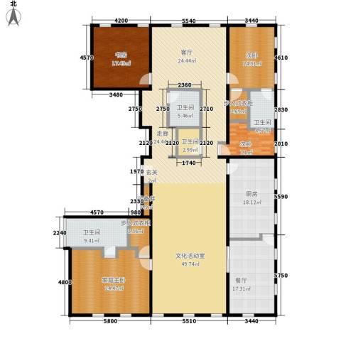 万国城moma3室1厅2卫1厨301.00㎡户型图